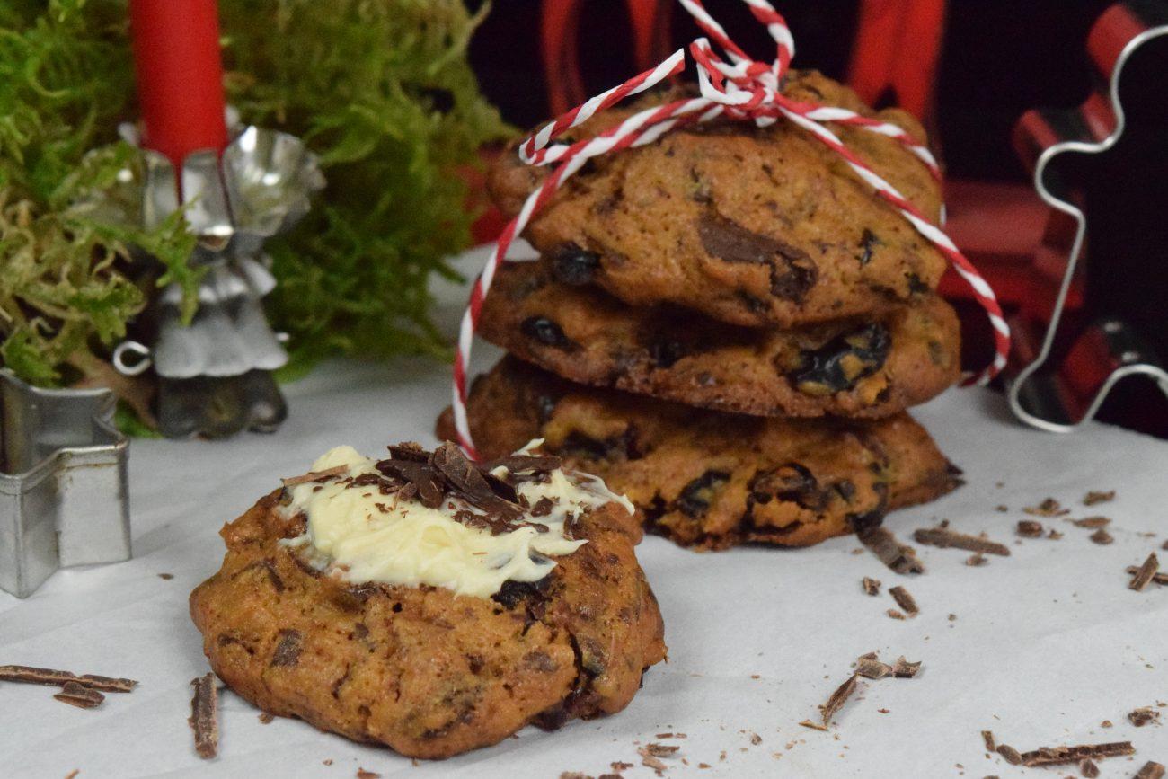 Schwarzwälder Kirsch-Cookies, Cookies, Kekse, Backen, Weihnachten, Kirschen, Blackforestkitchen