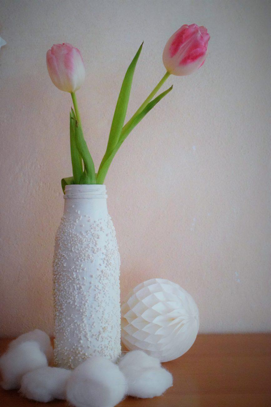 Vase, DIY, Selbstgemacht, Basteln, Winter, Geschenk, Blackforestkitchen