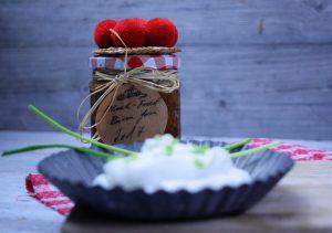 Brägele mit Sonnenwirbelesalat und Bibliskäs -Werbung-