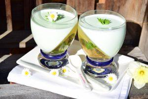 Waldmeister, Dessert, Nachtisch, Frühling, Creme, Süß, Gelee, Blackforestkitchen