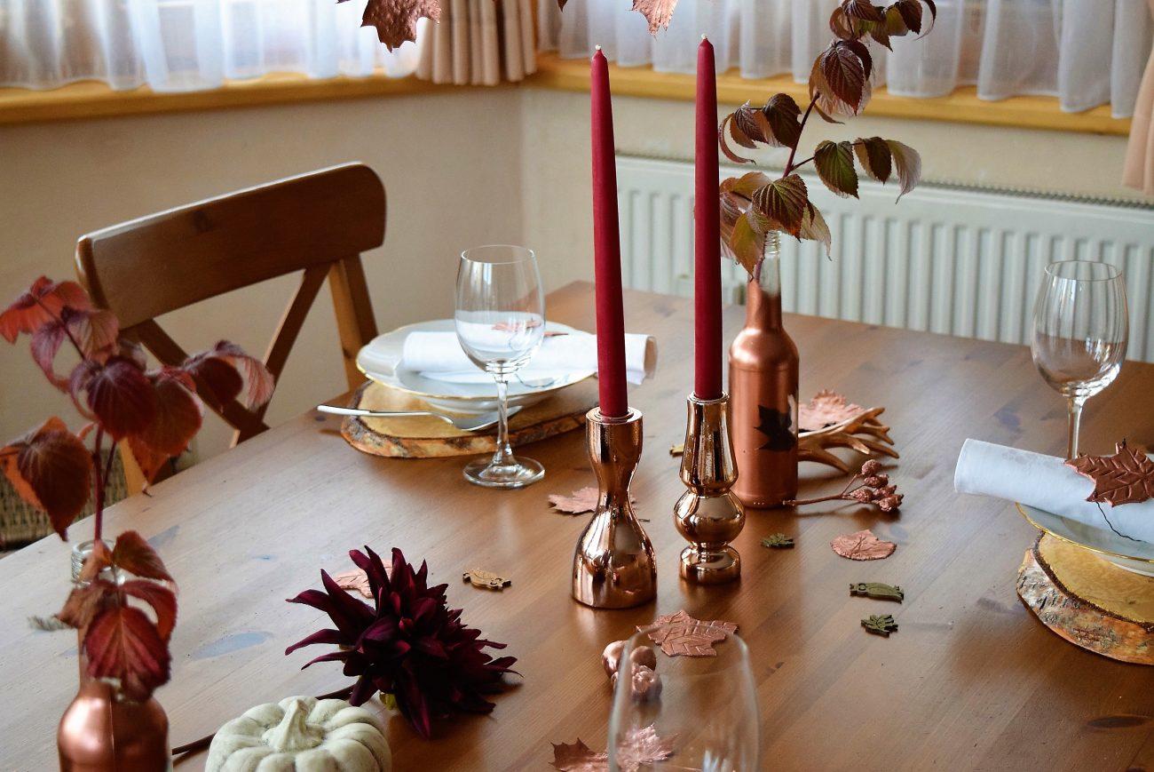 Herbstliches Diy Und Eine Tischdeko In Kupfer Blackforestkitchenblog