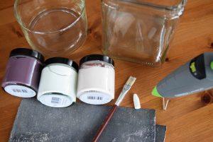 DIY Gläser mit Kreidefarbe