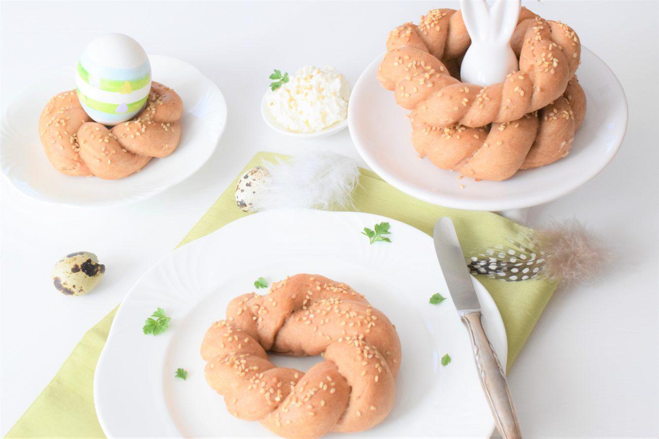 Frühstückskringel aus Hefeteig