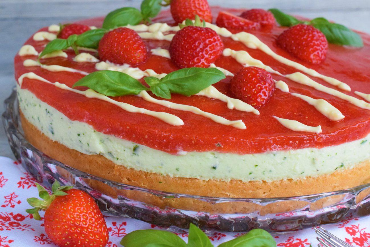 Erdbeer-Basilikum Torte
