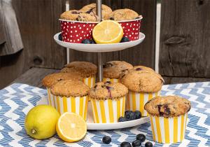 Zitronenmuffins mit Heidelbeeren -Gastbeitrag-