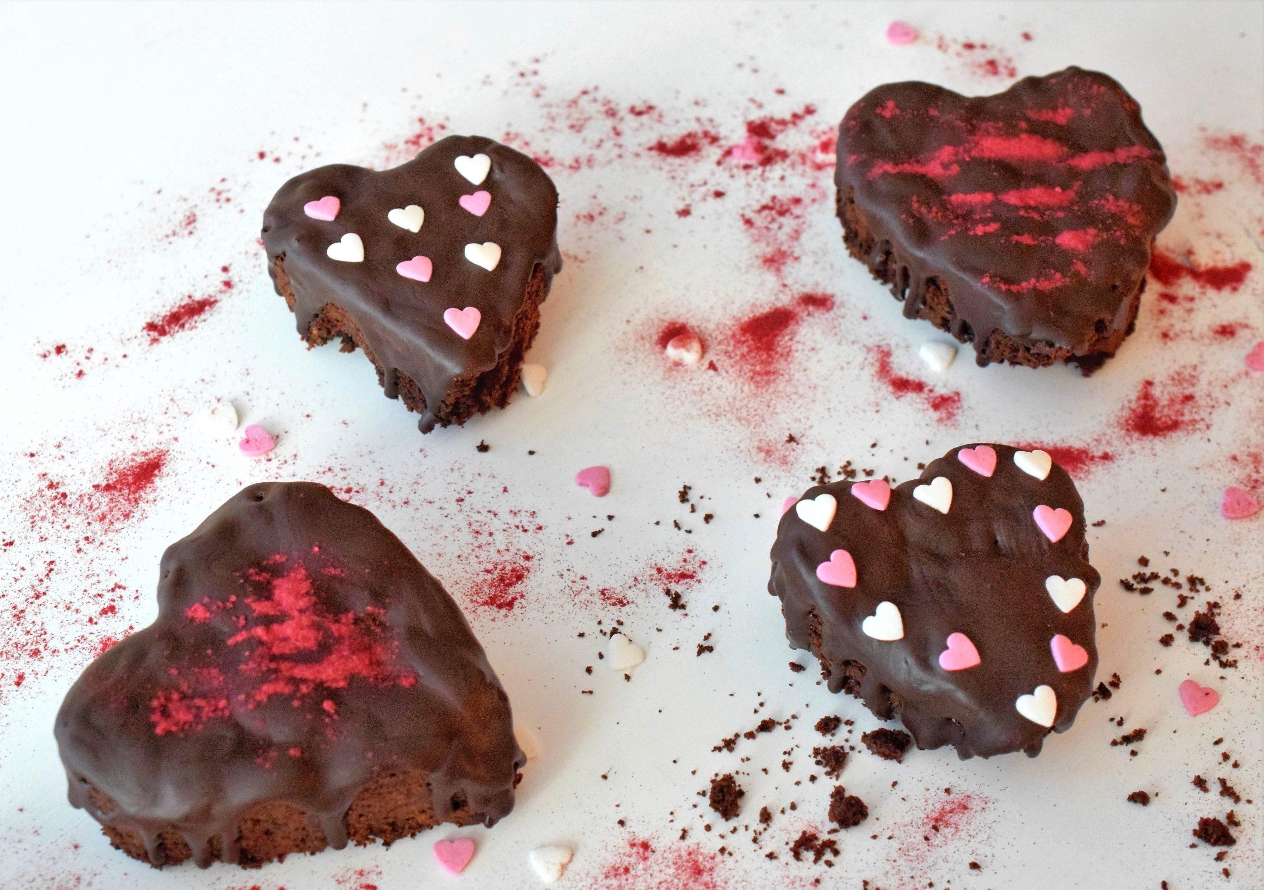 Brownies zum Valentinstag