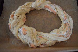 Herzhafter Lachs-Zopf