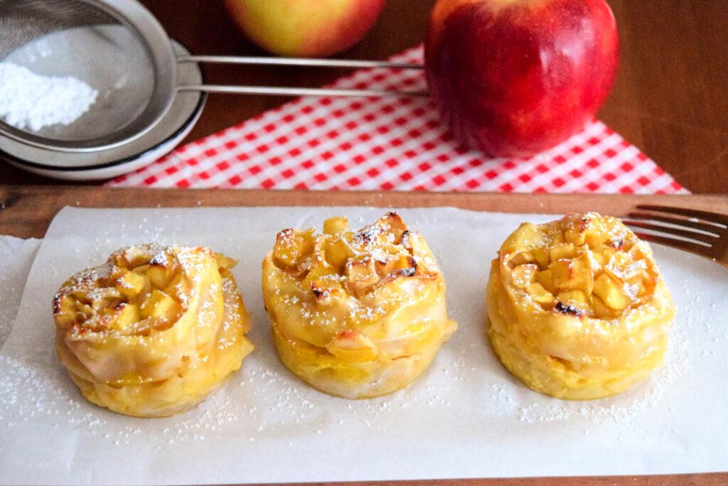 Schnelle Apfelstrudelmuffins