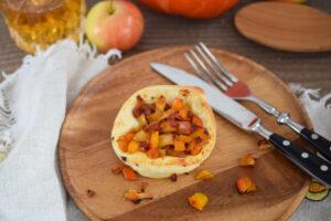 Herbstliche Kürbisschnecken
