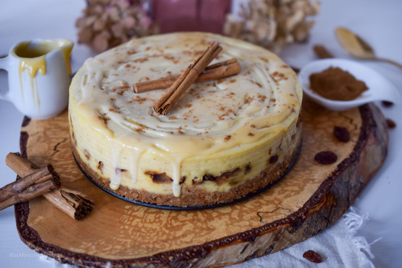 Bratapfel-Cheesecake mit Karamellsoße (aus dem Thermomix Varoma)