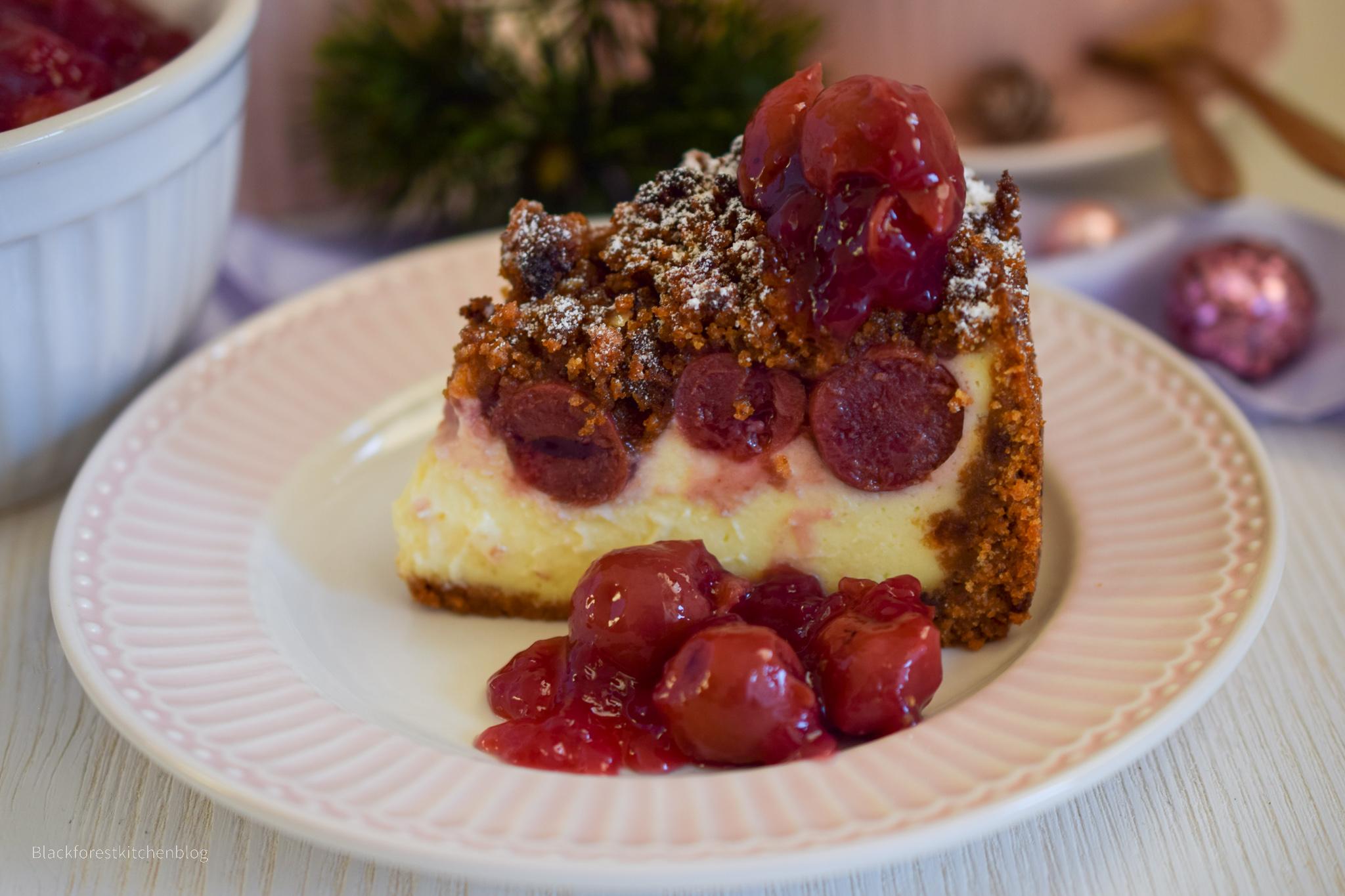 Glühwein-Cheesecake mit Honigstreuseln