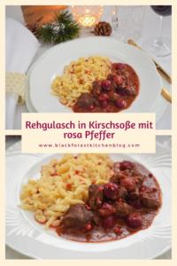 Rehgulasch in Kirschsoße -Hauptgang-