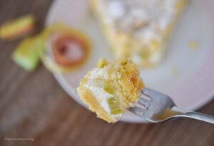 Rhabarber-Quarkkuchen mit Streuseln